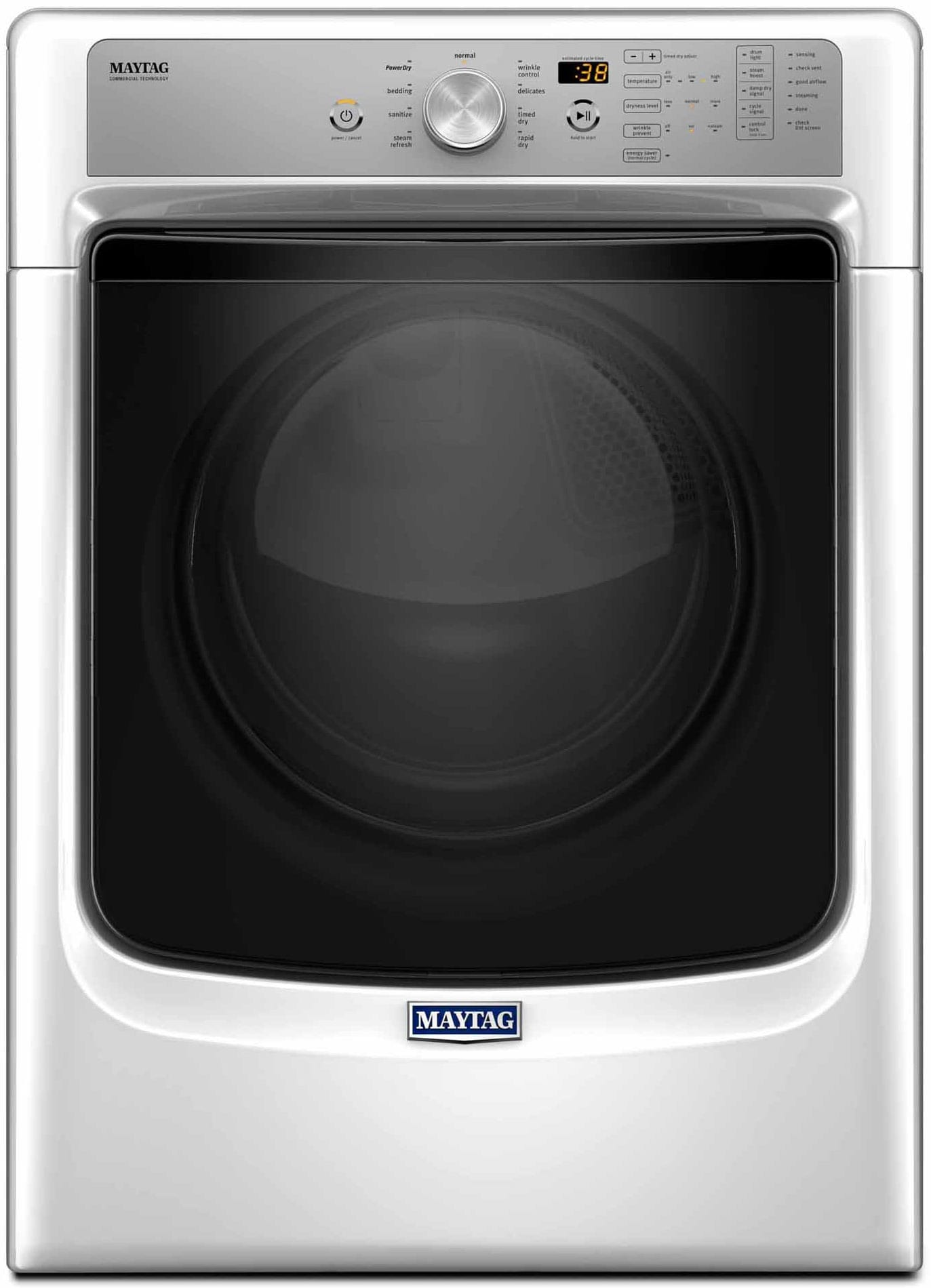 Maytag's traditional 5500FW white model is the cheaper option for both gas and electric.