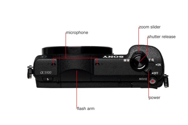 A5100 camera top