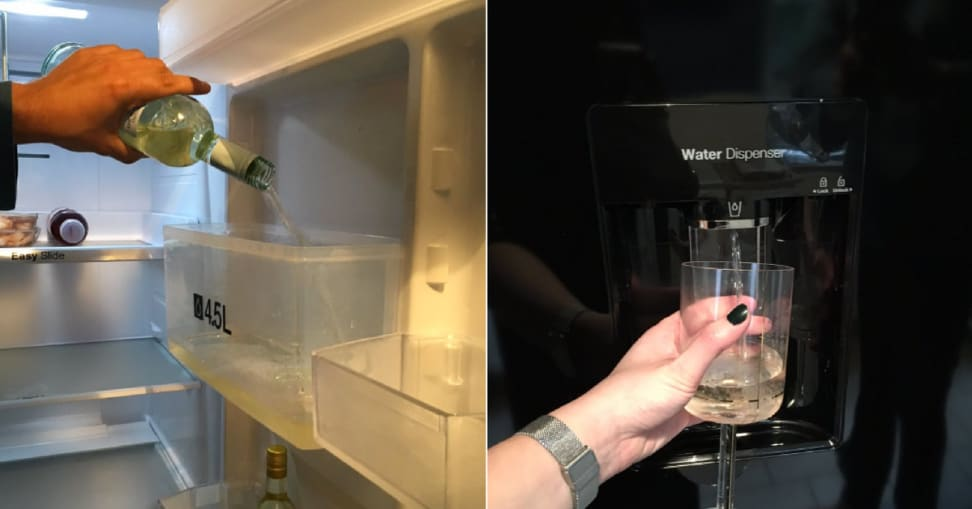 Blogger Clare Potts hacks her fridge to dispense wine, and we love her for it.