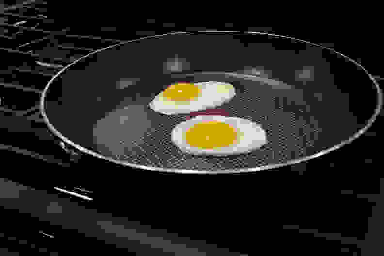 Eggs Cooking on Rangetop