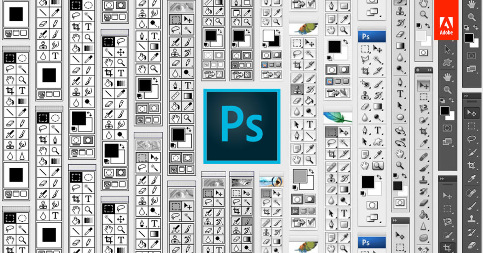The evolution of the Photoshop toolbar