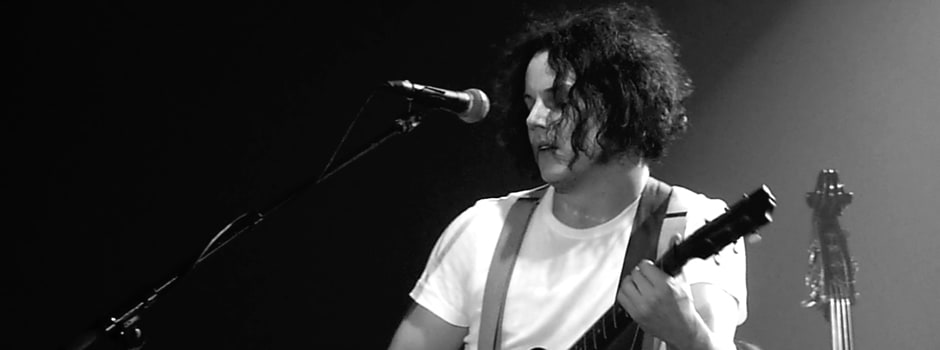 Jack White performs on stage