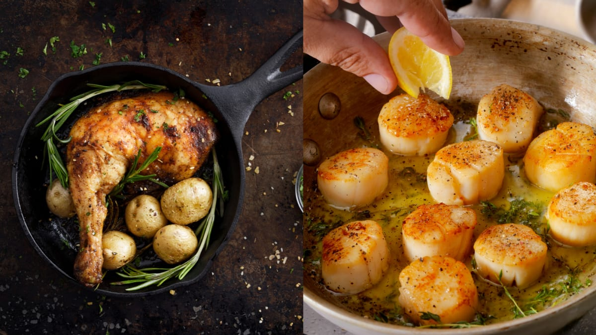 Cast iron vs. stainless steel—which should you cook with when?