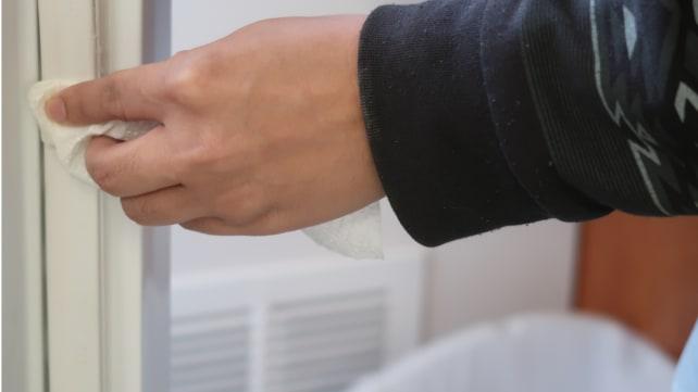 Wipe-vaseline-on-door-seal