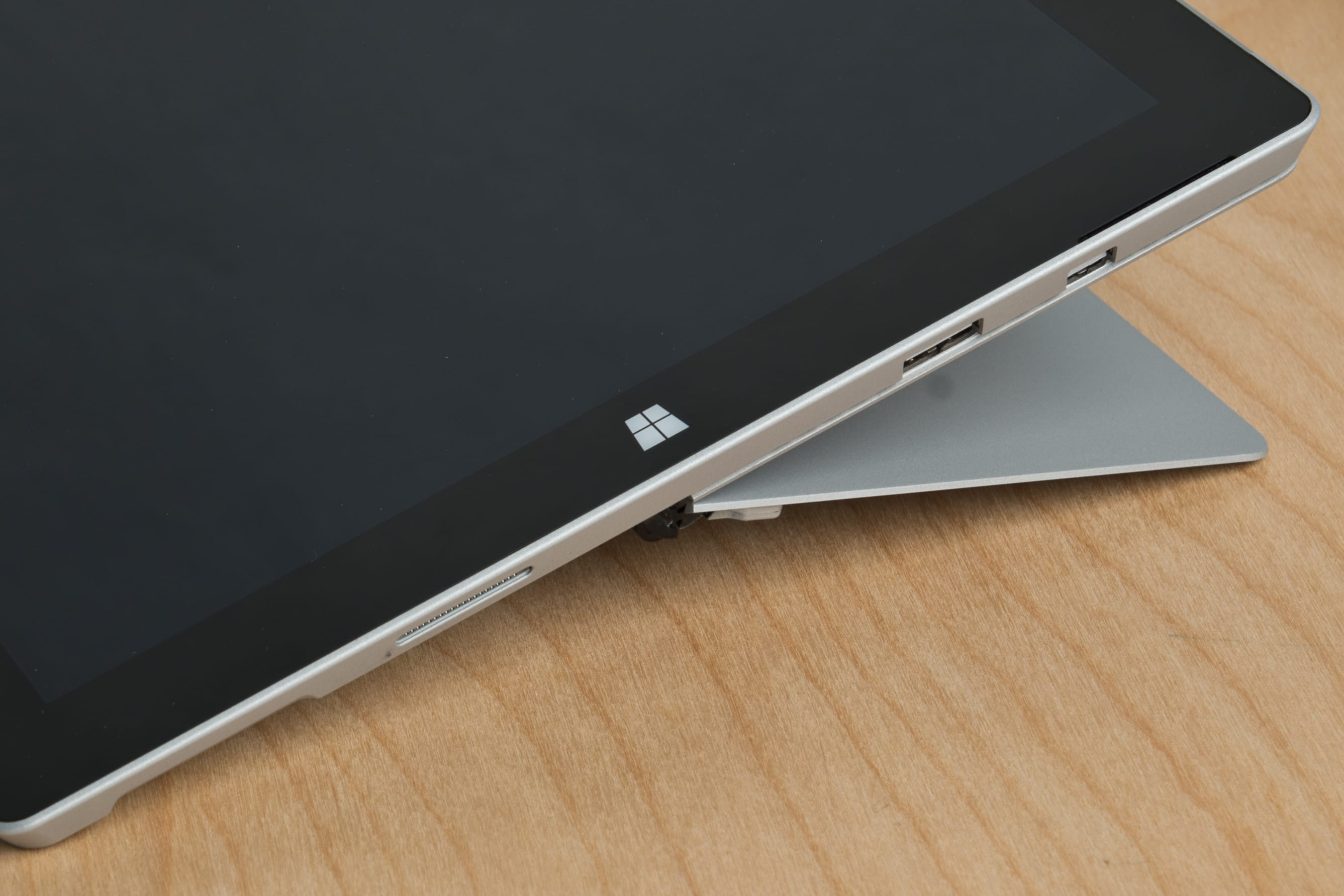 A closer look at the Microsoft Surface Pro 3's stand.