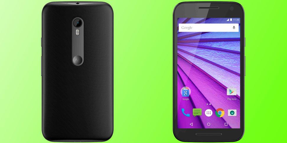 The new 2015 Motorola Moto G smartphone