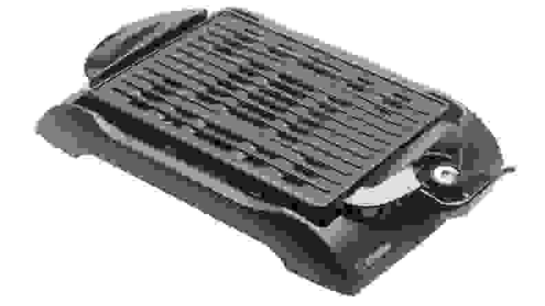 A black Zojirushi indoor grill.