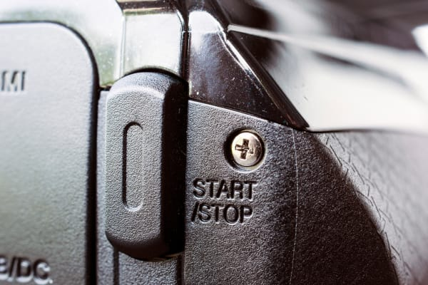 One of two buttons on the camera: Start/Stop.