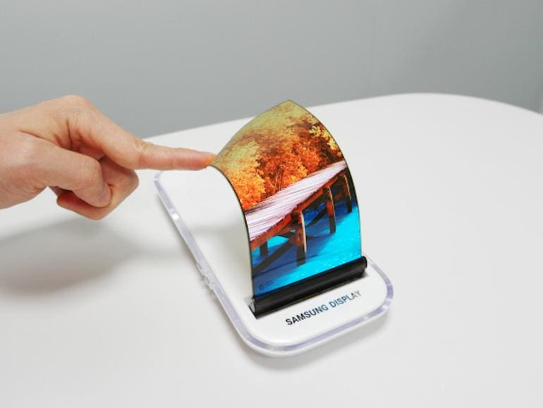 Samsung's currently working on a smartphone that folds like origami.