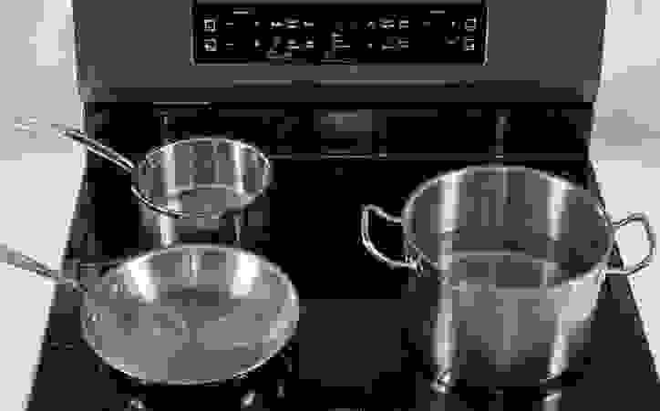 Ferrous-pots-and-pans-on-Frigidaire-induction-range