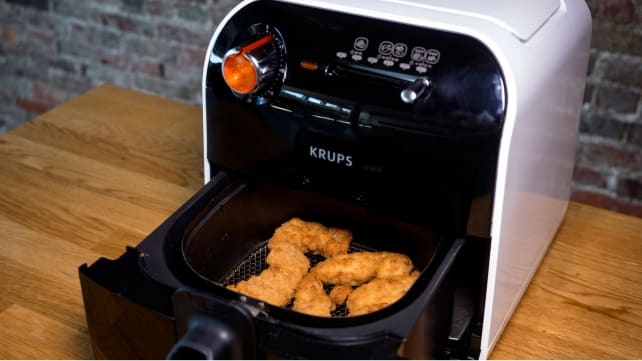 Air Fryer - Open with Chicken