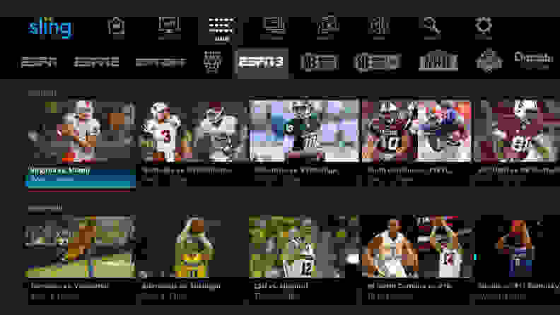 The New Sling TV Interface and ESPN3