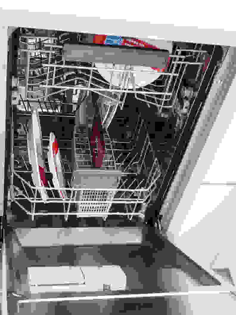 A tiny (by American standards) Blomberg dishwasher