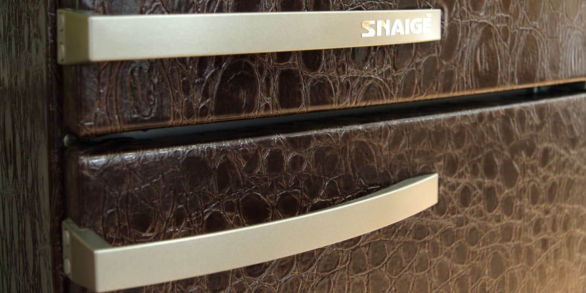 Best Counter Depth Refrigerator 2015 >> Check Out This Leather Fridge From Lithuania's Snaigė - Reviewed.com Refrigerators