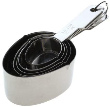 Product Image - Norpro Stainless Steel 5 Piece Measuring Cup Set