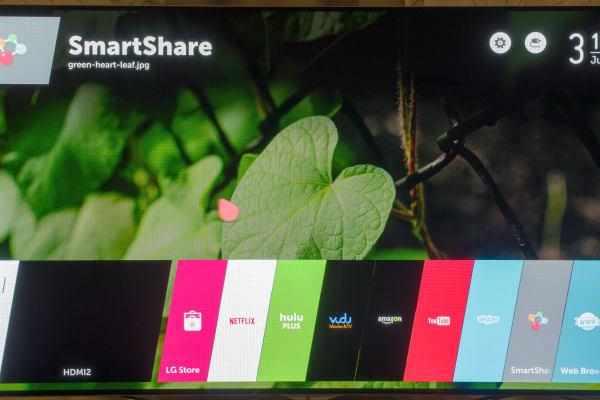 LG 60LB7100 webOS menu bar