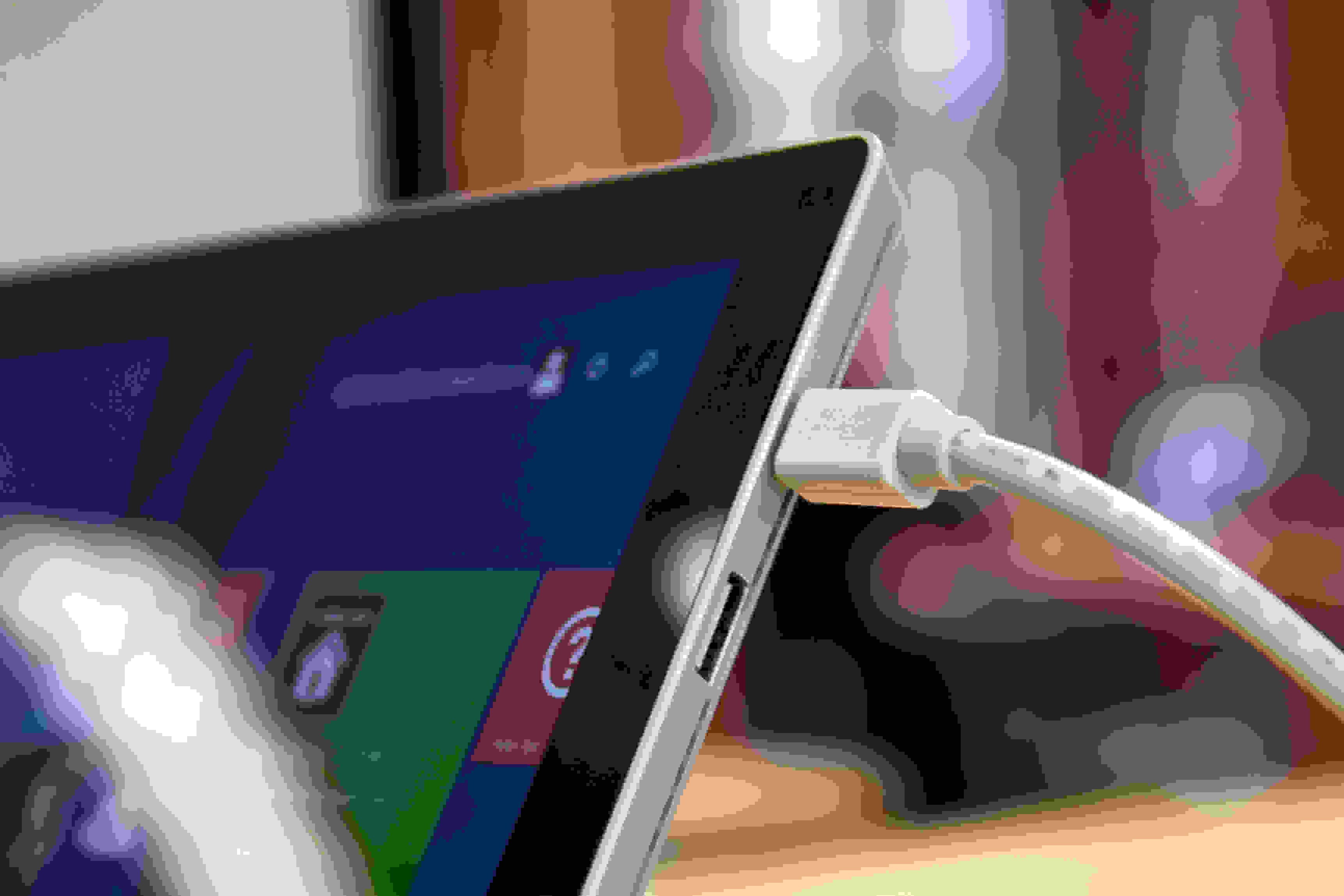 A closer look at the Microsoft Surface Pro 3's mini displayport.