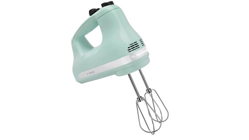 A KitchenAid hand mixer.