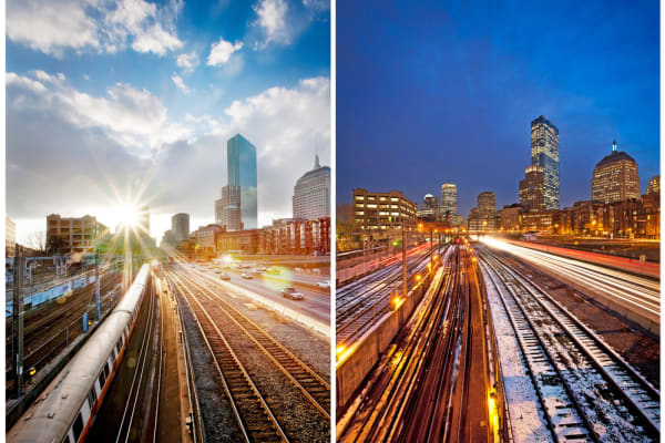 Boston train tracks