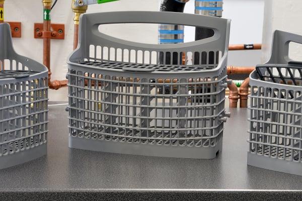 Frigidaire Professional FPID2497RF three-part cutlery basket