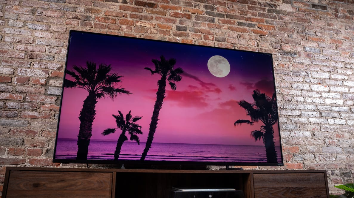 The Vizio P-Series Quantum displaying 4K/HDR content in a living room setting