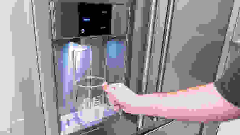 Frigidaire Pro PRMC2285AF Counter-depth French-door Refrigerator Review — Dispenser