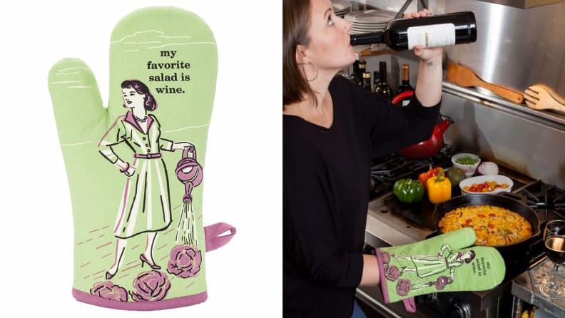 Wine Lover Oven Mitt
