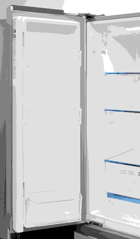 Three bucket shelves are found on the Haier HRF15N3AGS's left door.