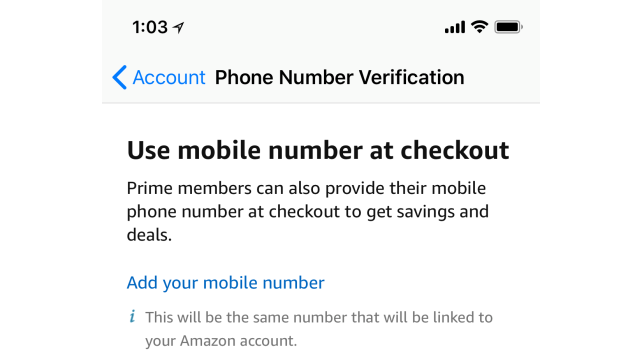 Amazon Prime Whole Foods Phone Number Verification