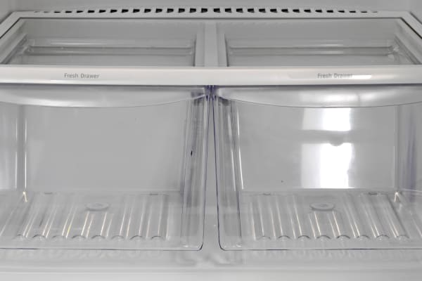 The Frigidaire FFTR1821QS's crispers actually did pretty well for such a low-cost fridge.