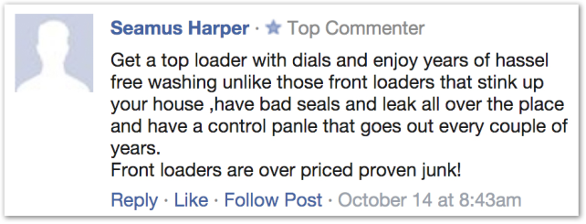 """Front loaders are over priced proven junk!"""