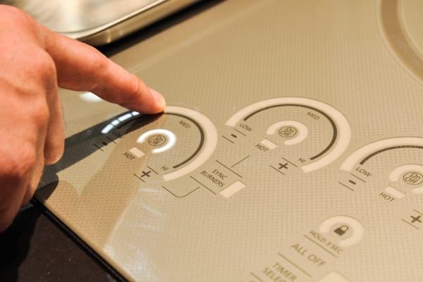 GE's Monogram induction cooktop glide touch controls