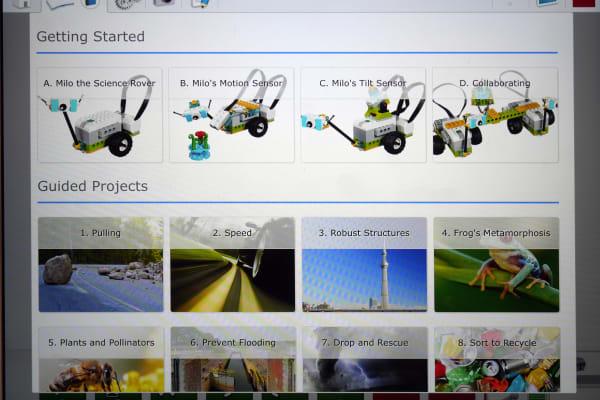 LEGO WeDo 2.0 list of teaching lessons