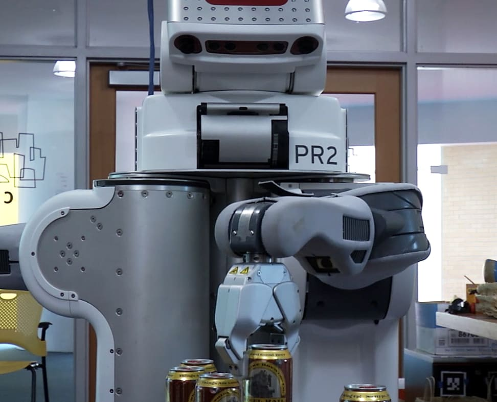 A beer-serving robot