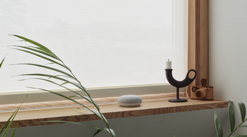 Nest Mini on window sill