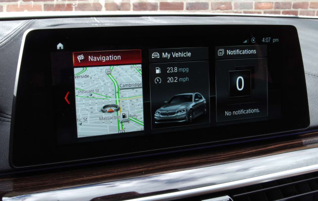BMW 530i iDrive touchscreen
