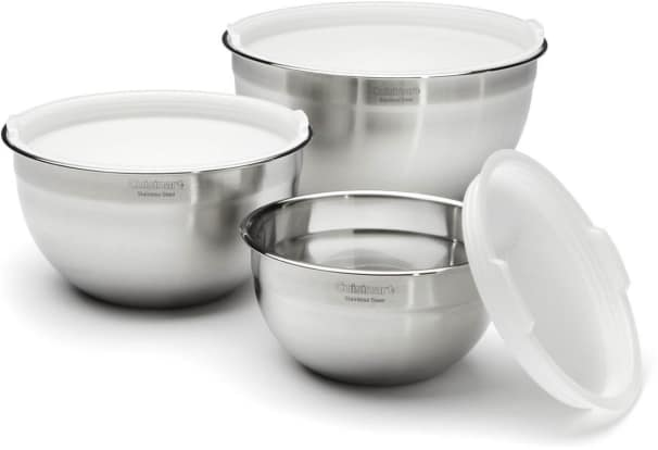 Product Image - Cuisinart Stainless Steel Mixing Bowls with Lids, Set of 3