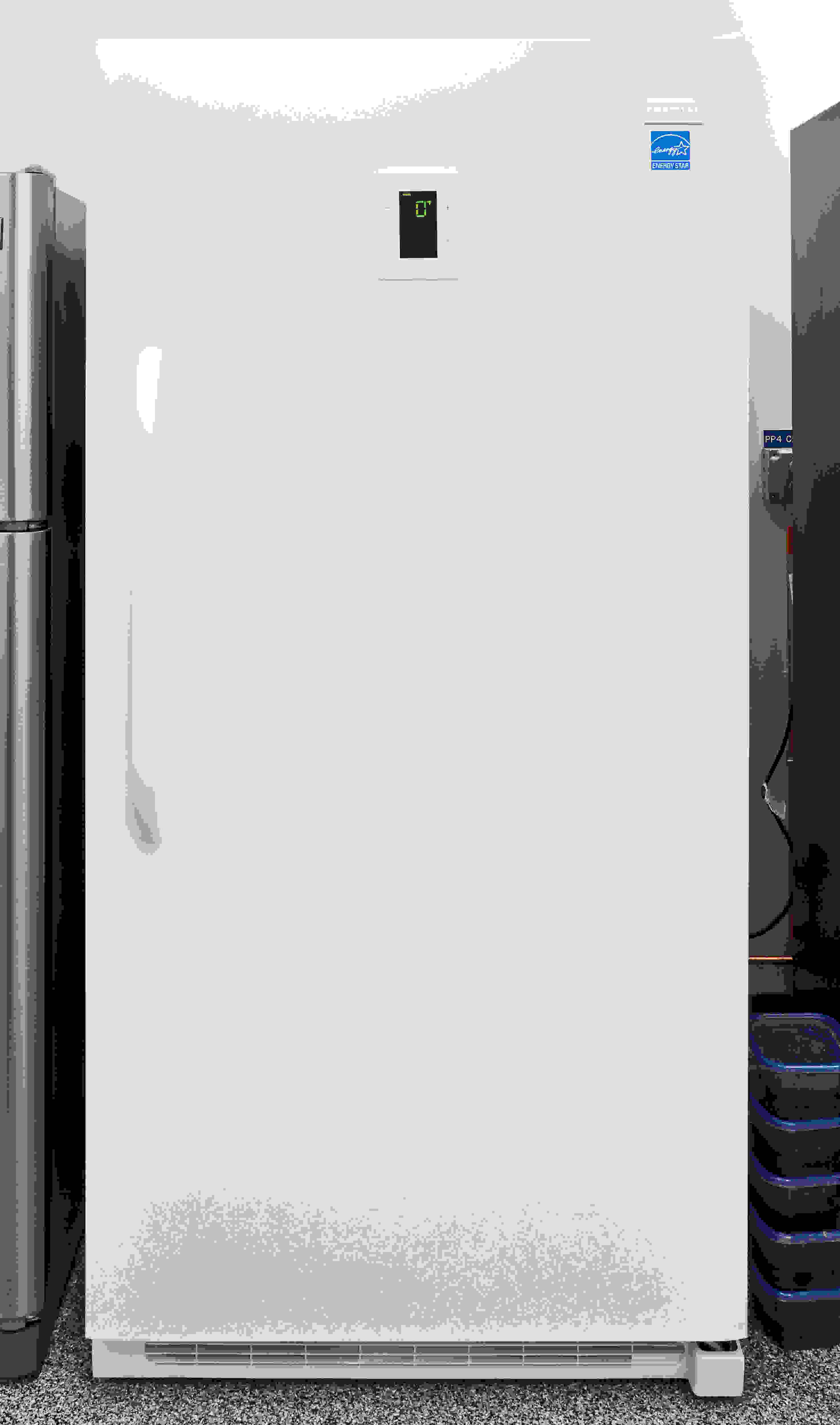 The 20.5-cu.-ft. Frigidaire FFFH21F6QW upright freezer is only available in glossy white.