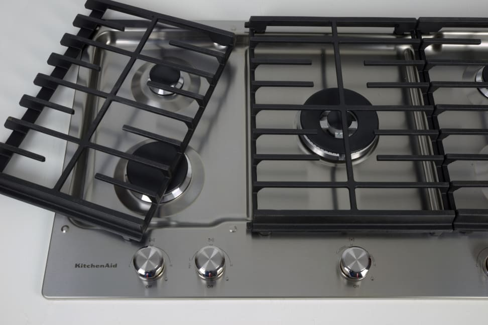 kitchenaid kcgs556ess 36 inch gas cooktop review reviewed com ovens