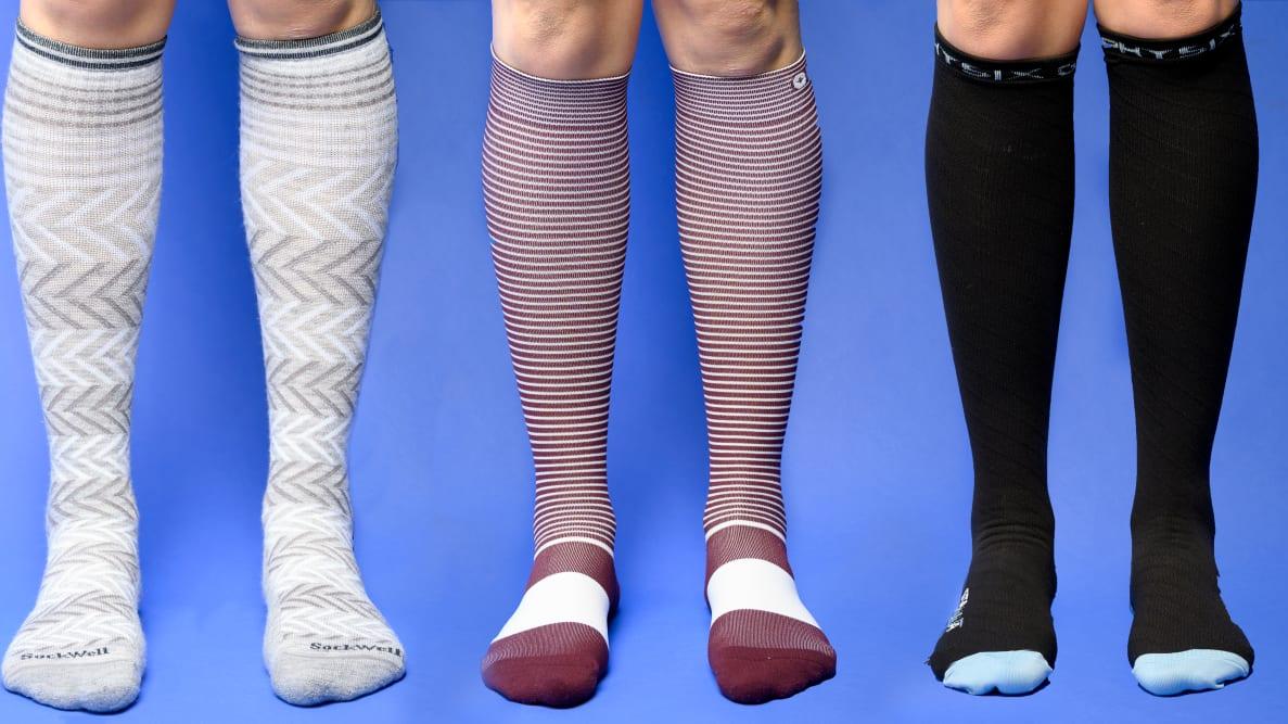 New Think Medical Women/'s Nurse Comfort Compression Socks 3 Piece Lot