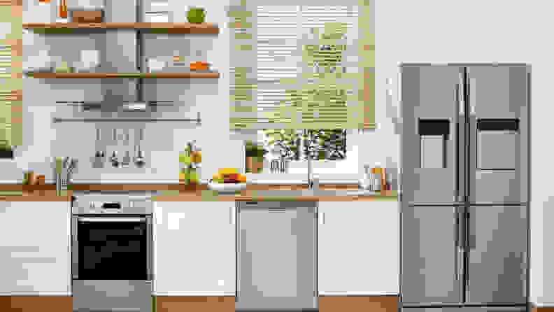 Four-door-French-door-refrigerator