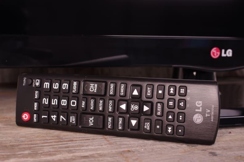 The LG 29LB4510's remote control