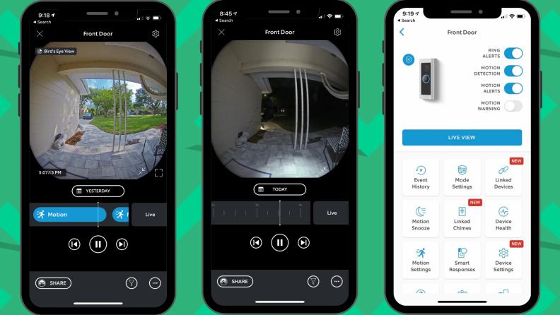 Ring Pro 2 app view