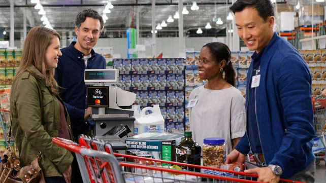 Couple shopping at Costco