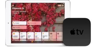 Apple Home app on an iPad with an Apple TV