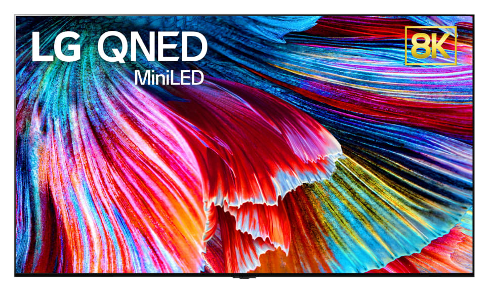 A Promo image of LG's new QNED TVs