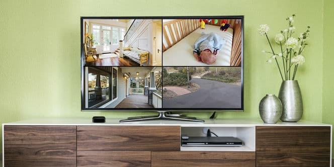 Check cameras using Apple TV