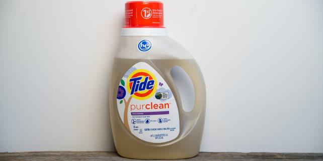 Tide PurClean comes in a clear bottle. It goes on sale in May.