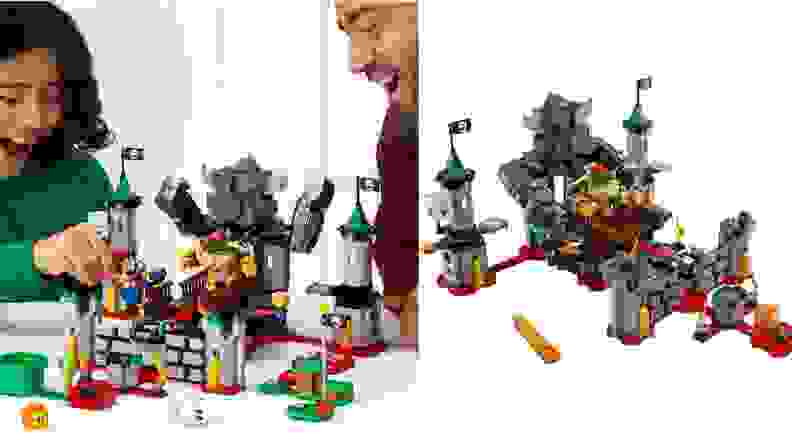 Lego castle buildable toy.