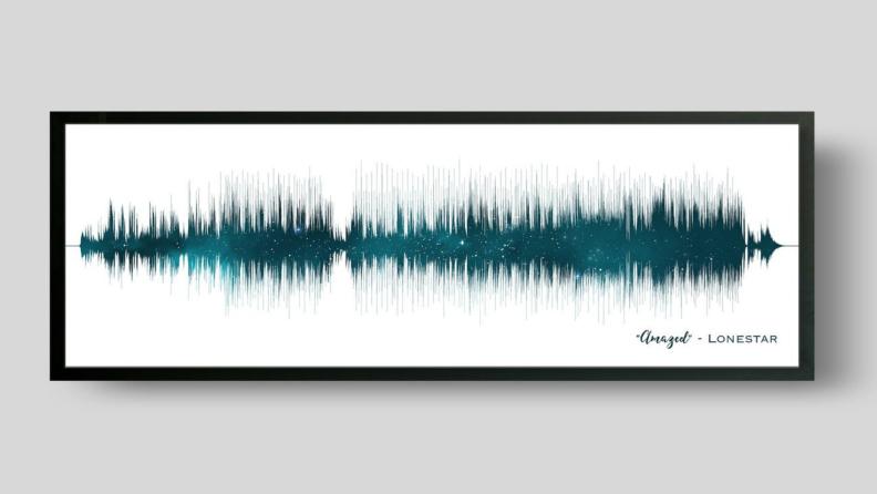 A sound wave piece of art.
